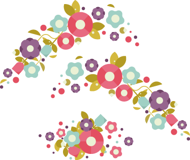 TenStickers. Blomster klistermærker til Christaniacykel. Flot blomsteret dekoration i 3 stykker, specialdesignet til christaniacyklen. Kreativ måde at dekorere din cykel med disse cykel stickers.