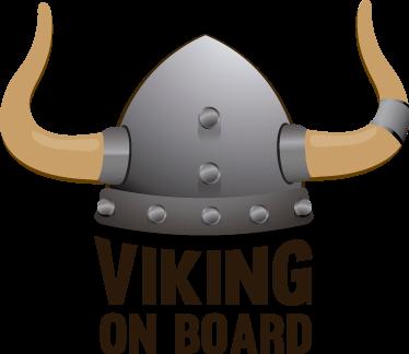 """TenStickers. Tekst Sticker Viking On Board. Decoreer uw voertuig met deze """"Viking On Board"""" auto sticker. Verkrijgbaar in verschillende afmetingen. Eenvoudig aan te brengen."""