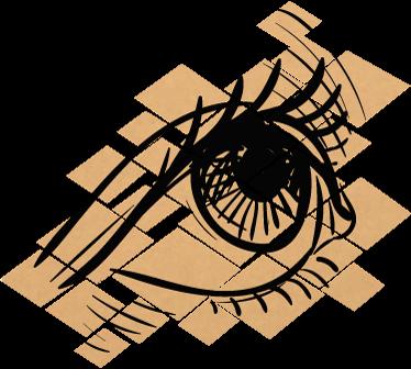 TenVinilo. Vinilo ojo fragmentado. Vinilos artísticos para darle un toque original y distintivo a las paredes de cualquier estancia de tu casa.