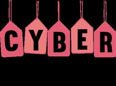 """TenVinilo. Vinilo cyber monday. Promociona en tu tienda """"cyber monday"""" a finales de noviembre con vinilos para cristales de tiendas originales."""