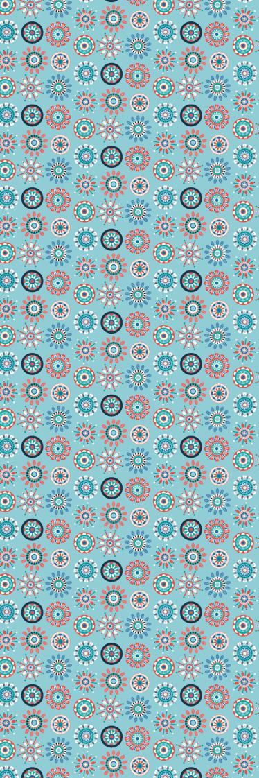 TenStickers. Koelkast sticker kaleidoscoop. Een mooie koelkaststicker om uw keuken op te fraaien. Gave keukenaccessoires van patronen die doen denken aan een kaleidoscoop.