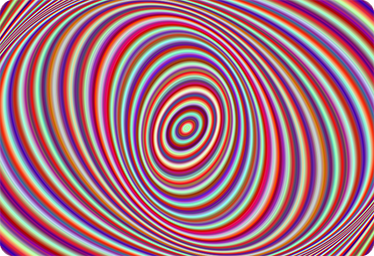 TenVinilo. Skin portátil espiral caleodoscopio. Pegatinas para portátil llamativas con una espiral multicolor estilo decoración caleodoscópica.