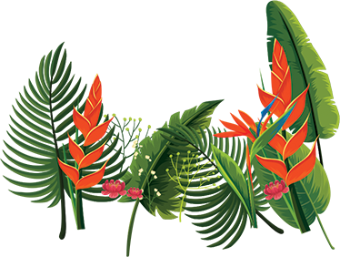 TenStickers. Botanical Plants Decal. Floral wall stickers - colourful design of botanic plants. Decorate any room in your home with this incredible design.