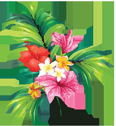 TenStickers. Klistermærke smuk blomst. Flot klistermærke afbilledet af en smuk buket blomster. Bring den dejlige og naturlige stemning inden for i hjemmet med denne blomster sticker.