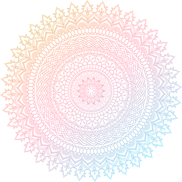 TenStickers. Colourful Mandala Floral Wall Decal. This mandala has a great decorative effect! The floral wall sticker with a mandala in soft pink tones is a great decoration idea for the bedroom!