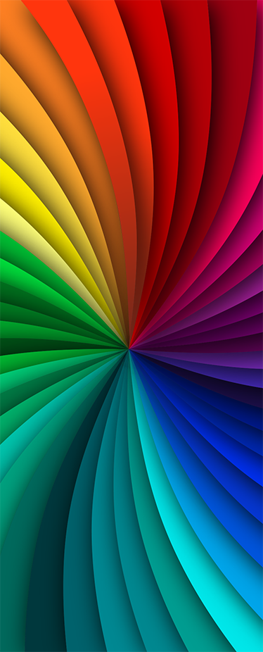 TENSTICKERS. 虹色の装飾用壁デカール. あなたが想像できるすべての明るい色を持っている私たちのゴージャスなレインボードアステッカーを見てください。サイズをカスタマイズできます。