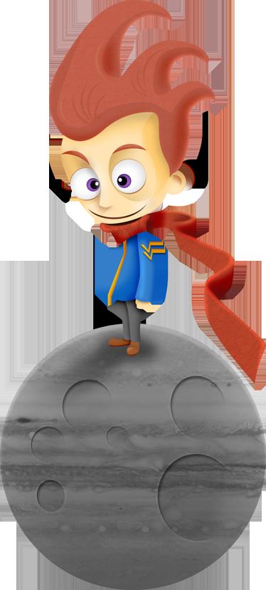 TenStickers. Sticker de kleine prins. Muursticker gebaseerd op het verhaal van de kleine prins. Prachtige wanddecoratie voor de versiering van de kinderkamer of speelhoek van je kind.