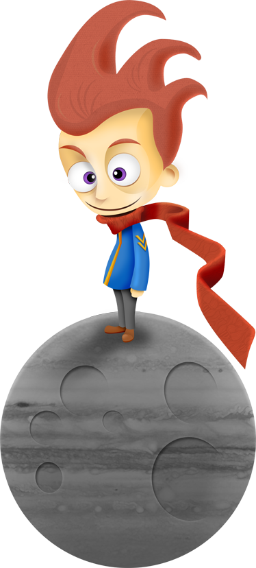 TENSTICKERS. 星の王子さまステッカー. 王子様を描いた装飾ステッカー。この童話の古典的なデカールで子供の部屋を飾ります。