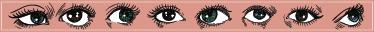TenVinilo. Vinilo cenefa ojos dibujados. Vinilo cenefa con varios ojos distintos dibujados, un patrón que se repite cada cierta distancia.