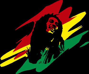TenStickers. Aufkleber Bob Marley. Cooler Laptopaufkleber mit Bob Marley und den Farben der Rastafari Flaffe. Für alle die den Spirit von Reggae und Jamaika spüren wollen.