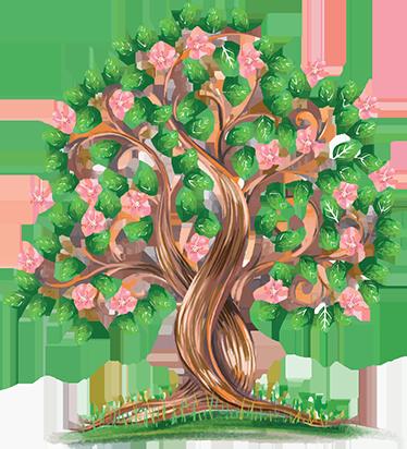 TenStickers. Vinil árvore em aguarela. Ornamenta a tua casa com este original adesivo decorativo de excelente qualidade que ilustra uma árvore pintada a aguarela.