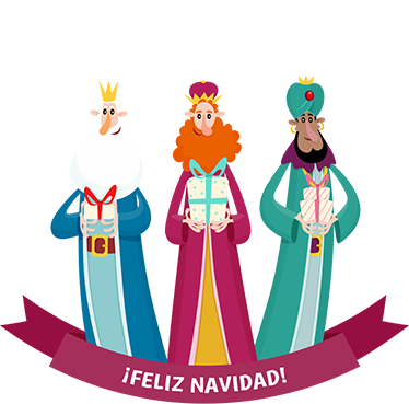 TenStickers. Three wise men window Christmas sticker. Say 'Feliz Navidad' with this sticker! You won't only be getting gold, frankincense and myrrh, you'll also be getting a high quality Christmas sticker