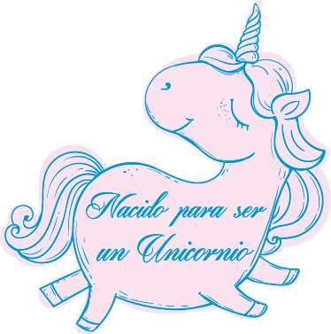 TenVinilo. Vinilo infantil nacido para ser unicornio. Si quieres decorar las paredes del dormitorio de tu hija con un vinilo infantil acorde a sus gustos este sticker es perfecto para ella.