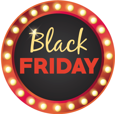 TenStickers. Window Decal Round Black Friday. Announce your Black Friday promotions in an exclusive and original way with this brilliant round shape decorative window sticker!