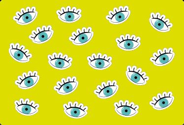 TenStickers. Laptop sticker ogen. Laptopsticker met een opvallend en modern ontwerp dat uw pc een artistieke touch geeft met een origineel ontwerp van allerlei ogen.