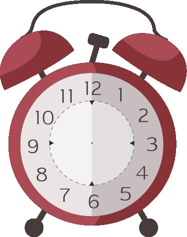 TenVinilo. Vinilo reloj despertador clásico. Vinilos reloj decorativo pared con una representación de un despertador de campanas de toda la vida, ideal para cuartos infantiles y juveniles.