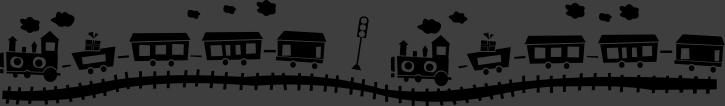 TenStickers. Sticker enfant petit train. Stickers décoratif pour les tous petits et pour les plus grands toujours passionnés par les petits trains.