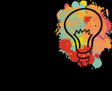 TenStickers. Sticker pour interrupteur ampoule splatter. Autocollant pour interrupteur représentant une ampoule dans le style splatter.