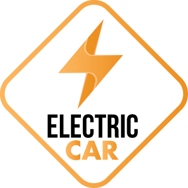 """TenStickers. Sticker Electric Car. Ein toller Autoaufkleber mit der Aufschrift """"Electric Car"""" für alle umweltbewussten Autofahrer unter uns. Persönliche Beratung"""