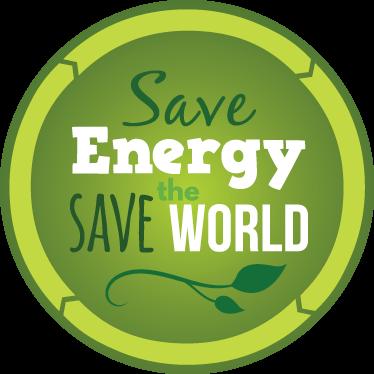 TenStickers. Sticker groene energie save the world. Autosticker waarmee u uw ecologische bewustzijn en bezorgdheid over de planeet en klimaatverandering duidelijk kunt maken.