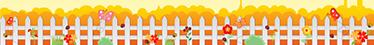 TenStickers. Muursticker sierrand hek met bloemen. Een muursticker behangrand met een hek, bloemen en vlinders voor in de kinderkamer. Tover een glimlach op uw kinds gezicht.
