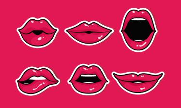 TenStickers. Sticker pour meubles bouches. Autocollant pour meubles de couleur rose. Apportez un peu de peps à vos meubles, tiroirs avec ce sticker.