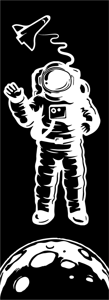 TenStickers. Sticker paroi de douche astronaute. Découvrez notre autocollant original pour décorer votre paroi de douche. Ajoutez cette touche unique à votre salle de bain.