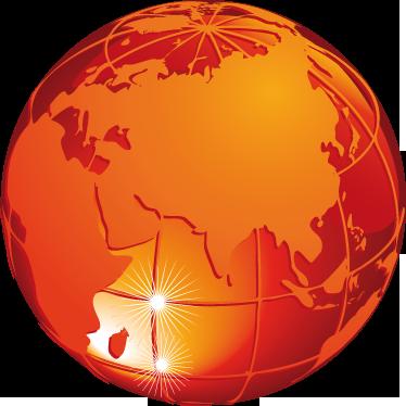 TenStickers. Wandtattoo Planet mit Ansicht Asien. Dekorieren Sie Ihr Zuhause mit diesem schönen Wandtattoo eines Planeten mit Afrika, Europa und Asien.