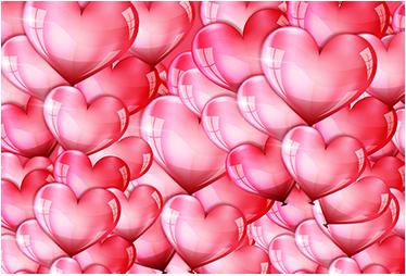 TenVinilo. Vinilos San Valentín para portátil. Pegatinas sticker bomb para tu ordenador con una colorida textura de globos con forma de corazón.