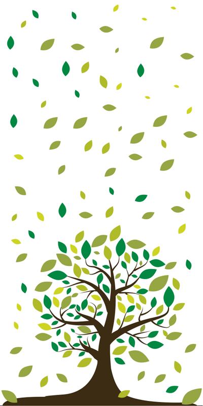 TenStickers. Pellicola vetro privacy alberi e foglie. Pellicola adesiva per vetro di alberi e foglie, originale ed economica. Di semplice applicazione, per creare privacy nella zona a te necessaria.