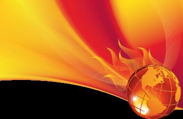 TenStickers. Sticker planète ardente. Stickers mural représentant une planète Terre en feu.Personnalisez et adaptez le stickers à votre surface en sélectionnant les dimensions de votre choix.