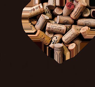 TenStickers. Sticker mural I love wine. Autocollant décoratif mural pour les amoureux du vin. Idéal pour décorer votre cuisine ou votre salon.