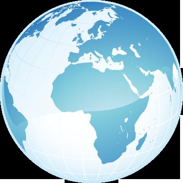 TenStickers. Autocolantes para quarto infantil Globo mapa África Europa. Autocolante decorativo para quarto com imagem do globo terrestre destacando a Europa e a África. Material resistente e fácil de aplicar.