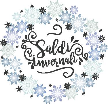 TenStickers. Vetrofania saldi invernali con neve. Questa incantevole vetrofania per saldi invernali con neve è davvero una scelta perfetta per aggiungere stile ed eleganza a tutto il tuo negozio.