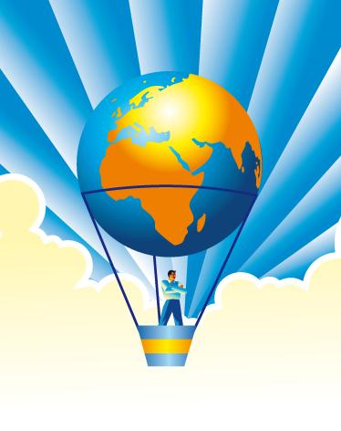 TenStickers. Sticker wereld luchtballon. Wereld muurstickers en lucht ballon muurstickers in alle maten en kleuren!  Ballon muurstickers zijn leuk voor kinderkamer wereld muurdecoratie.
