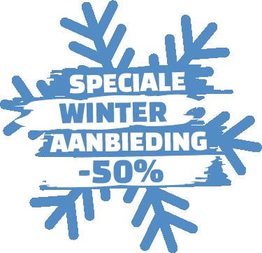 TenStickers. Reclame sticker speciale winter aanbieding. Geeft u één of meer speciale aanbiedingen deze winter? Laat het uw klanten zien met een fraaie personaliseerbare promotiesticker.