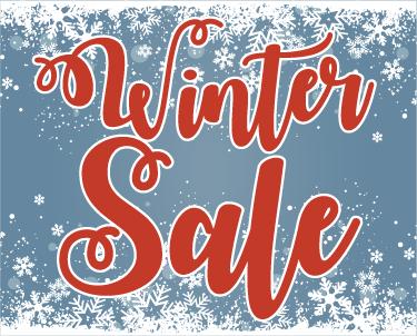 TenStickers. Winkel sticker winter sale sneewvlokjes. Een sfeervolle winter sale reclamesticker voor winkels die het voorbijgaande publiek willen laten zien waar de beste prijzen te vinden zijn.
