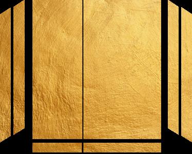 TenStickers. Adesivo PS4 sfondo oro. Cover protettiva o decorativa adesiva per PS4 color oro