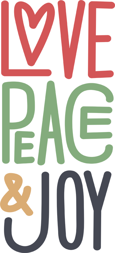 """TenVinilo. Vinilo mensajes de amor. Vinilo decorativo con las palabras en inglés """"amor, paz y diversió"""", un diseño tipográfico atractivo y colorido ideal para cualquier estancia."""