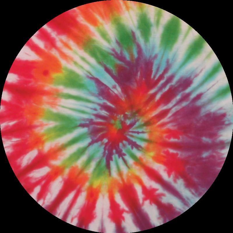 TenStickers. Stickers cirkels Tie dye. Kleurrijke cirkels zelfklevende sticker gemaakt in veelkleurige patronen om elke vlakke ruimte te versieren, of het nu thuis of op kantoor is.