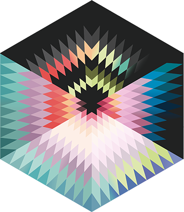 TenVinilo. Vinilo decorativo prisma colores. Murales para pared de aspecto moderno y colorido diseño con un dibujo geométrico ideal para cualquier estancia de tu casa.