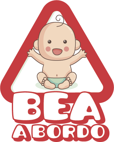 TenVinilo. Pegatina bebé a bordo personalizado. Pegatinas de bebé a bordo con un diseño que podrás personalizar añadiendo el nombre del bebé que viaje habitualmente en el coche.