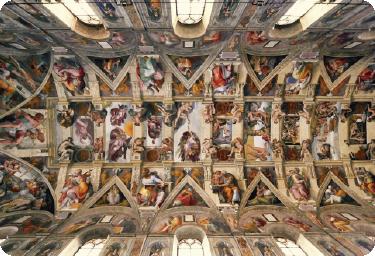 TenVinilo. Vinilo para portátil techo Capilla Sixtina. Pegatinas para portátil para amantes del arte con el famoso fresco de San Pedro del Vaticano realizado por Miguel Ángel.