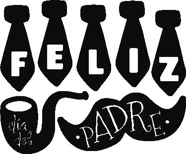 TenVinilo. Vinilo para ventanas Día del Padre. Vinilos para escaparates de tiendas que deseen promocionar el próximo día del padre con un diseño original y divertido.