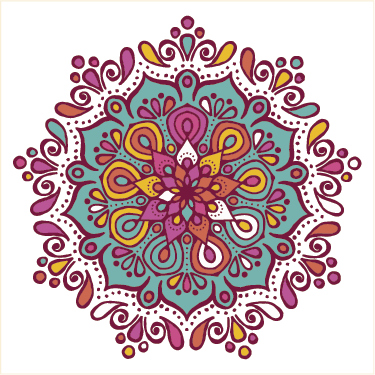 TenStickers. Mandala tile decorative vinyl tile transfer. Decorative waterproof tile sticker with the design of colorful mandala prints. An ideal decoration for the kitchen or any other space in the home.