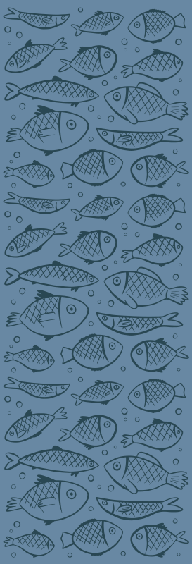 TenStickers. Fish in water shower sticker. Enjoy privacy in a bathroom space with this shower screen decal designed  with the prints of  fishes.It application is easy because it is self adhesive.
