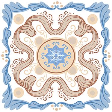 TenStickers. Adesivo de azulejo português. Temos aqui este vinil decorativo de azulejos com padrão de azulejo tipicamente português, especialmente idealizado para cozinhas.