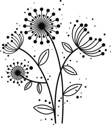 TenStickers. Floral dandelion plant wall decal. Decorative dandelion plant wall sticker which is customizable in any one of the colours we have in our catalog. Easy to apply and self adhesive.