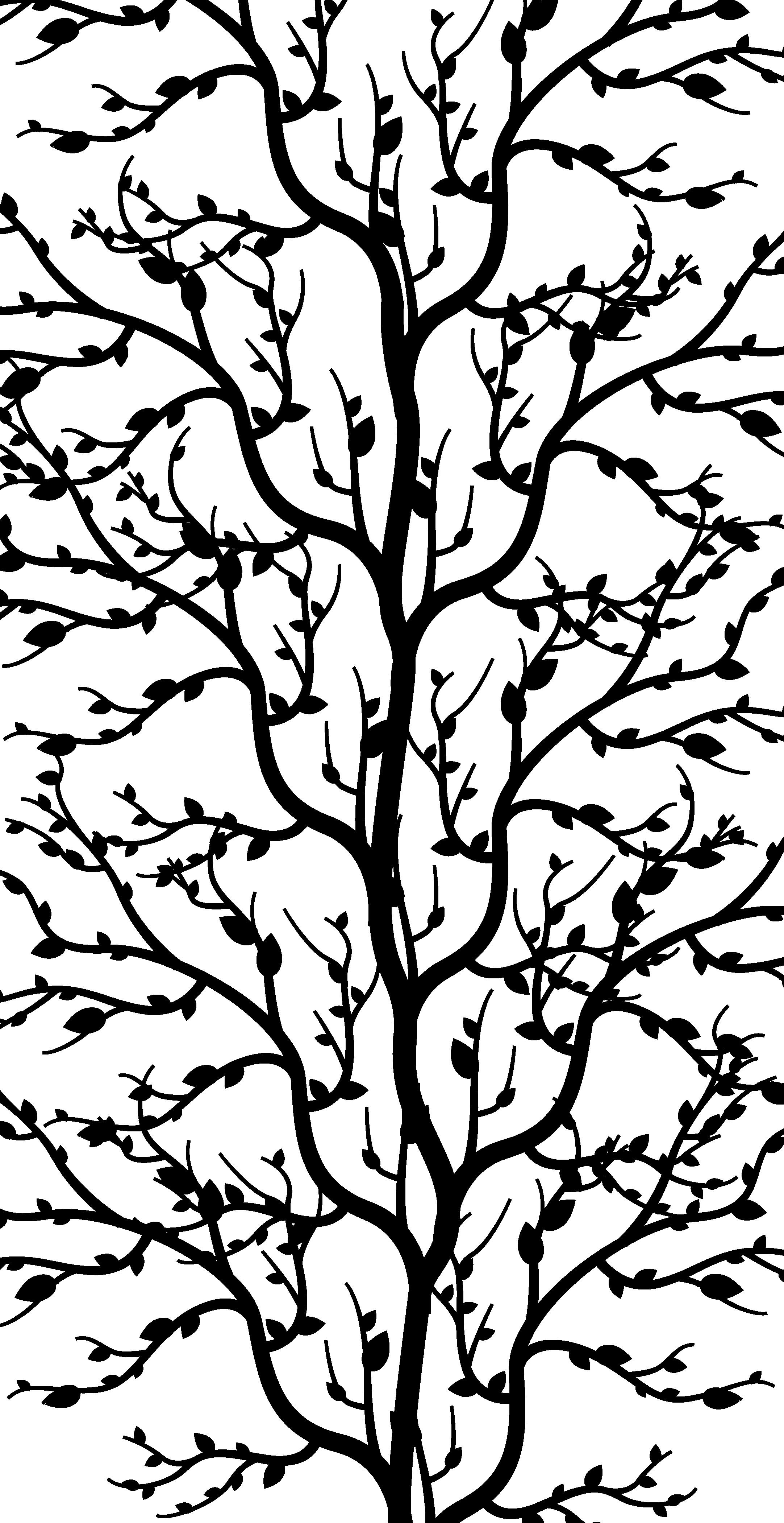 TenStickers. αυτοκόλλητο ντους κλαδιά δέντρων. κλαδιά δέντρου ντους διακοσμητικό πλαίσιο για να διακοσμήσει την πόρτα ενός χώρου ντους. διατίθεται σε διάφορα χρώματα και προσαρμόσιμο σε μέγεθος.