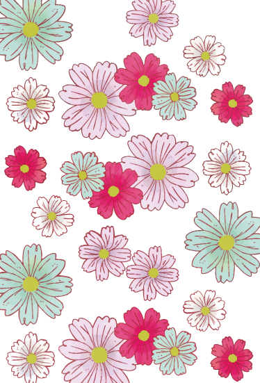TenStickers. Floral window adhesive daisies. This lovely flower design of daisies has colors like red, green and pink and will give beautiful effects when the lights hit this.